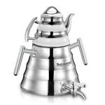 کتری و قوری روگازی استیل دلمونتی مدل DL1410  Stainless steel kettle and teapot DL1410