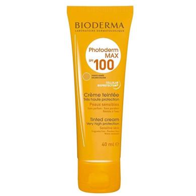 کرم ضد آفتاب رنگی مناسب پوست خشک و نرمال مدل فتودرم مکس Spf100 حجم 40 میل بایودرما   Bioderma Photoderm Max SPF100 Sunscreen Cream For Dry Skins 40ML