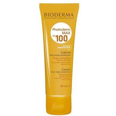 کرم ضد آفتاب فوتودرم مکس فاقد رنگ SPF100 بایودرما BIODERMA Photoderm Max Creme SPF 100 Sunscreen