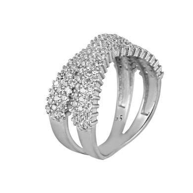انگشتر نقره زنانه مد و کلاس کد 1000442 Fashion and class women's silver ring code 1000442