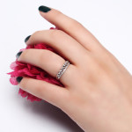 انگشتر نقره زنانه مد و کلاس کد 1000478 Women's silver ring fashion and class code 1000478