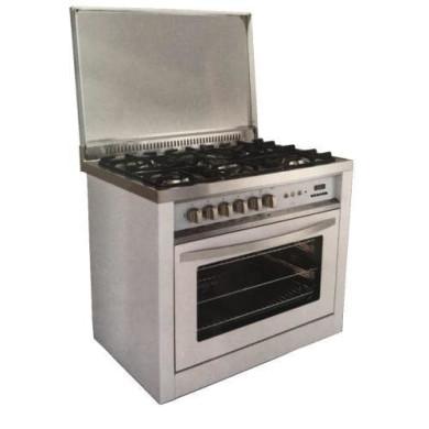 اجاق گاز مبله فر دار اخوان مدل Akhavan Free Standing Range M10-EDTR Furnished furnace stove with Brotherhood Akhavan Free Standing Range M10-EDTR model