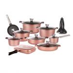 سرویس قابلمه 30 پارچه گرانیت کاندید مدل اوشن Candid 30 Pcs Ocean Granite Cookware Set