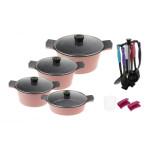 سرویس پخت و پز 18 پارچه تکنو مدل Venus 002 Techno Venus 002 Cookware Set 18 Pcs