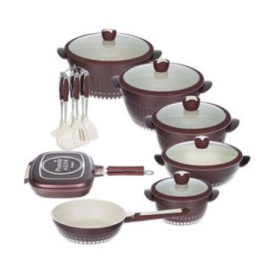 سرویس پخت و پز 20 پارچه گرانیتی فونیکس مدل NEW YOURK phoenix PH-200 Cookware Set 20 Pcs