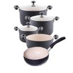 سرویس قابلمه گرانیتی8پارچه تکنو Tecno Granita Cookware 8 Pcs