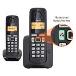 تلفن بی سیم منشی دار گیگاست مدل A220A Duo Gigaset A220A Duo Wireless Phone