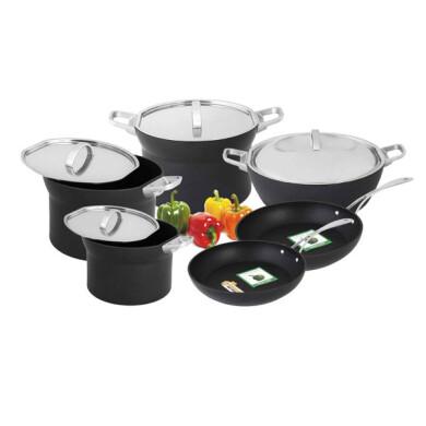 سرویس پخت و پز 10 پارچه گرین تک مدل Germany M TWO کد A1 GreenTech Germany M TWO A1 Cookware Set 10 Pcs