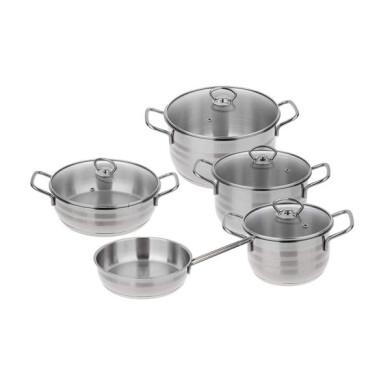 سرویس پخت و پز 9 پارچه دستی لوکس مدل 001 Desttilux 001 Cookware Set 9 Pcs