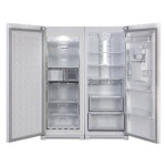 یخچال و فریزر دوقلوی هیمالیا مدل NR390ip-HFZN320 Himalia Ice Pool Leather White No Frost Refrigerator With Icemaker