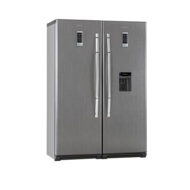 یخچال فریزر دوقلو هیمالیا مدل آیس پول یخساز اتوماتیک سیلور Himalayan Twin Freezer Refrigerator Model Ice Money Silver Automatic Ice Make