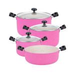 سرویس قابلمه و ماهیتابه 7 پارچه سلتیک مدل 7PC  7-piece Celtic pot and frying pan set, model 7PC