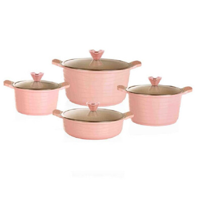 سرویس قابلمه 8 پارچه مدل CSD8312 هاردستون 8-piece pot service model CSD8312 Hardstone