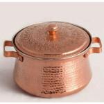 قابلمه مسی زنجان گلریز قلمکاری سنتی کد 10061 سایز 4 Zanjan Golriz copper pot, tradioitnal engraving, code 40061, size 1