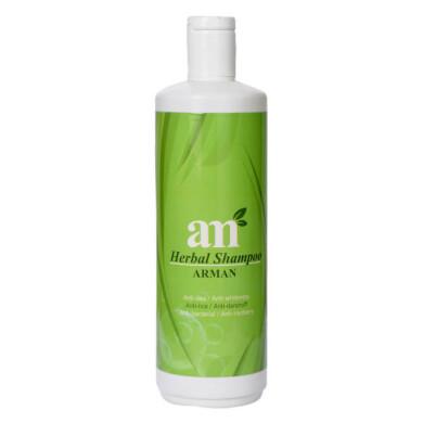 شامپو ضد ریزش و سفیدی مو 500 میل آرمان Arman Anti Hair Loss And Anti Hair Whiteness Shampoo 500ml