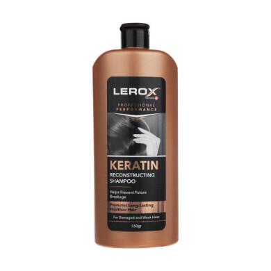 شامپو مو لروکس مدل Keratin حجم 550 گرم Lerox Creatine Hair Shampoo 550 gr