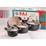 سرویس پخت و پز 7 پارچه ساج مدل 003 SAJ Set Pot 7Pcs 003