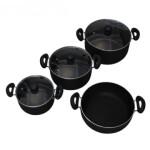 سرویس پخت و پز 7 پارچه زرفام کد 7PC ZARFAM Set Pot 7Pcs
