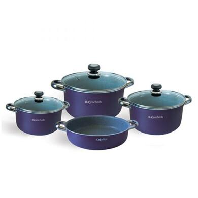سرویس پخت و پز 7 پارچه کاج تفلون مدل دالیا KAJ Cookware Set Dalia Model 7 Pcs