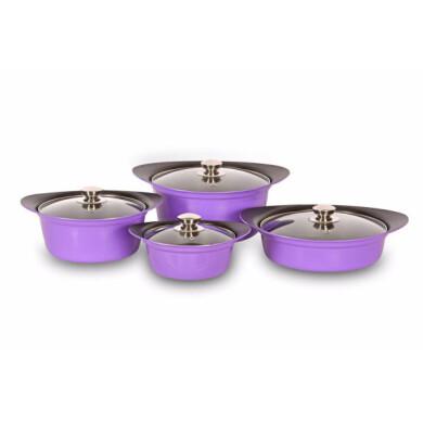 سرویس پخت و پز 8 پارچه کاج نچسب مدل ساینا KAJ Cookware SAINA Model 8 Pcs