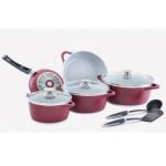 سرویس پخت و پز 11 پارچه کاج تفلون مدل کاملیا KAJ Cookware Set Kamelia Model 11 Pcs