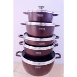 سرویس پخت و پز 10 پارچه فورته مدل متئو Forte Cookware Set Mateo Model 10 Pcs