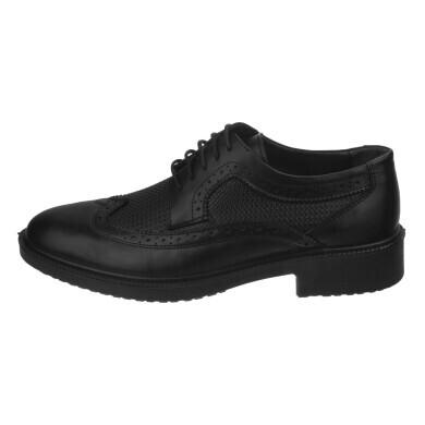 کفش مردانه چرم نوین تبریز مدل هشت ترک کد200S-102 سایز 44 New leather shoes for men, Tabriz, model eight, code 200 S-102, size 44