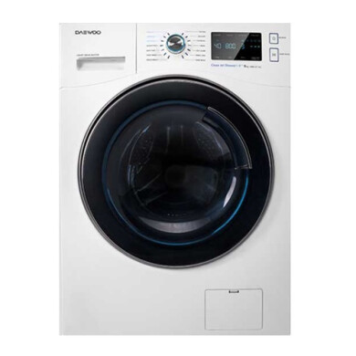 ماشین لباسشویی 8 کیلویی سفید دوو مدل DWK-8540 Daewoo 8 kg white washing machine model DWK-8540