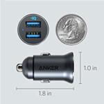 شارژر فندکی انکر مدل A2727 Powerdrive2  Carcharger Anker Powerdrive2 Silver A2727H41