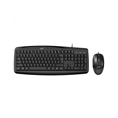کیبورد و ماوس باسیم جنیوس مدل Smart KM-200 با حروف فارسی Genius Smart KM200 Wired Keyboard and Mouse With Persian Letters