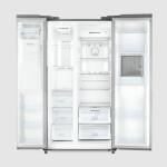 یخچال و فریزر سایدبایساید بزرگ پرایم 2 درب طرح استیل مدل D2S-1037SS Side by side refrigerator بزرگ Large Prime 2 door steel design model D2S-1037SS