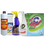 پک نظافت و شست و شو کد 103  بسته 7 عددی Cleaning and washing pack
