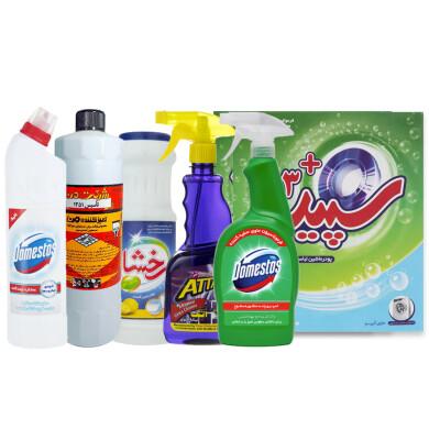 پک نظافت و شست و شو کد 104  بسته 8 عددی Cleaning and washing pack