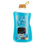 مایع دستشویی صدفی آبی با رایحه گل های بهاری اکتیو Blue shell toilet liquid with the scent of active spring flowers