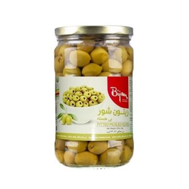 زیتون شور بدون هسته بیژن Bijan Seedless olives