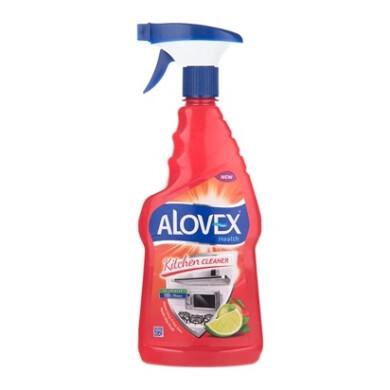 اسپری پاک کننده سطوح آشپزخانه با رایحه لیمو آلوکس Alovex Kitchen Surface Cleaner Spray