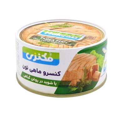 کنسرو تن ماهی با شوید در روغن مکنزی Makenzi-Canned tuna with dill in Mackenzie oil
