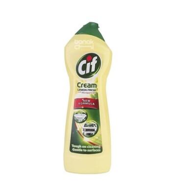 کرم پاک کننده میکرو کریستال زرد با رایحه لیمو سیف Cif Lemon Fresh Surface Cleaner Cream