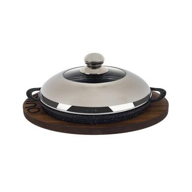 تابه استیک درب دار نالینو مدل Pedela سایز 26 Steak pan with lid brand Nalino model Pedela size 26