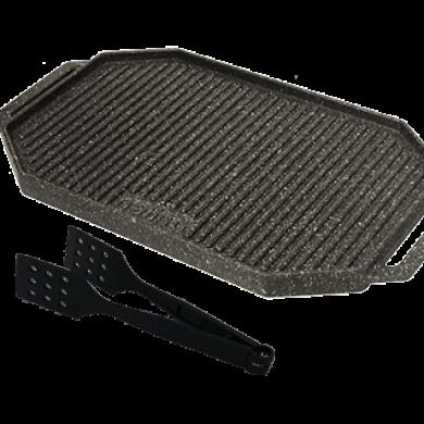 تابه گریل چدن دو طرفه مدل Napoli cast iron grill pan- Napoli model