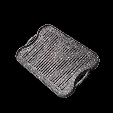 تابه گریل چدن دو طرفه مدل Fontana cast iron grill pan- fontana model