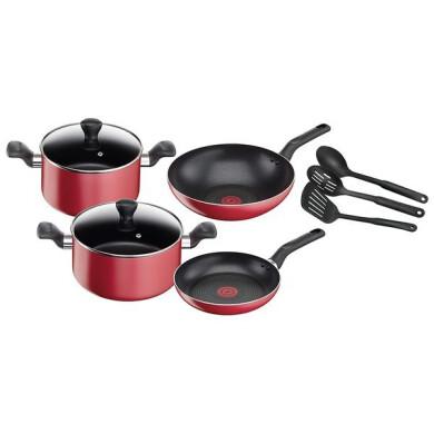 سرویس 9 پارچه تفال مدل سوپر کوک Service of 9 pieces of Tefal, Super Cook model