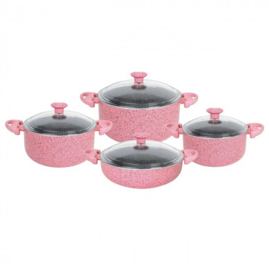 سرویس پخت و پز 8 پارچه لاوان مدل تیتان پلاس Lavan Titan Plus Cookware Set 8 Pieces