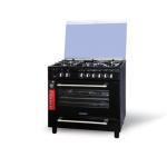 اجاق گاز فردار تمام لعاب مدل نگین Fardar gas stove, all black glaze, model Negin