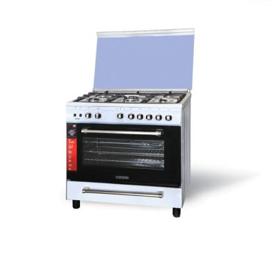 اجاق گاز فردار تمام لعاب سفید مدل نگین Fardar gas stove, all white glaze, model Negin