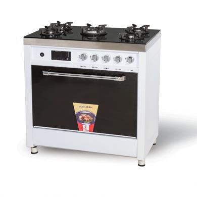 اجاق گاز سوزان طرح فر تمام لعاب  soozan Stove oven design all white glaze