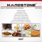 پلوپز 10 کاره هاردستون مدل RCP1891 Hardstone 10-function rice cooker model RCP1891