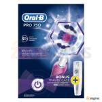 مسواک برقی اورال بی مدل 3D White PRO750 Oral B electric toothbrush model 3D White PRO750